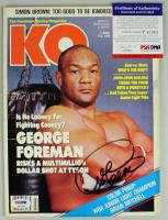 George Foreman Signed 1990 Knockout Boxing Magazine (PSA COA) at PristineAuction.com