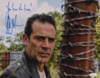 "Jeffrey Dean Morgan Signed ""The Walking Dead"" 11x14 Photo Inscribed ""You Got No Guts!"" & ""Negan"" (JSA COA) at PristineAuction.com"