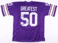 """50 Greatest"" Jersey Signed by (5) with Dave Osborn, Doug Sutherland, Stu Voigt, Henry Thomas & Kevin Williams (JSA COA) at PristineAuction.com"