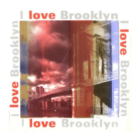 """Steve Kaufman Signed """"I Love Brooklyn"""" 24x24 Hand Pulled Silkscreen on Canvas at PristineAuction.com"""