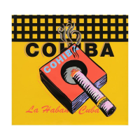 "Steve Kaufman Signed ""Cohiba"" 24x24 One-of-a-Kind Mixed Media on Canvas at PristineAuction.com"