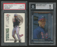 Lot of (2) Graded Rafael Furcal Baseball Cards With 1999 Team Best Player of the Year Young Guns #4 (PSA 9) & 1999 Bowman Chrome #364 RC (BGS 9) at PristineAuction.com