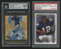 Lot of (2) Graded Daunte Culpepper Football Cards With 1999 Upper Deck HoloGrFX Ausome #69 (BGS 8.5) & 1999 Collector's Edge Supreme PSA Series #4 (PSA 10) at PristineAuction.com