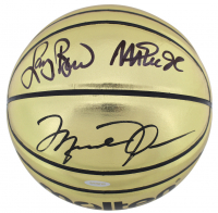 "Michael Jordan, Magic Johnson & Larry Bird Signed Gold Basketball Inscribed ""Dream Team 92 Gold"" (UDA COA & Beckett COA) at PristineAuction.com"