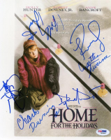"""Home for the Holidays"" 8.5x11 Photo Cast-Signed by (6) with Jodie Foster, Robert Downey Jr., Holly Hunter, Charles Durning, Cynthia Stevenson & Dylan McDermott (PSA LOA) at PristineAuction.com"