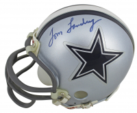 Tom Landry Signed Cowboys Mini-Helmet (JSA COA) at PristineAuction.com