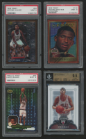 Lot of (4) Graded Basketball Cards With 2006-07 Bowman Sterling #46 Tyrus Thomas RC (BGS 9.5), 1996-97 Finest #84 Antoine Walker B RC (PSA 9), 1998-99 UD Ionix #68 Larry Hughes RC (PSA 9),  & 1995-96 Finest #112 Antonio McDyess RC (PSA 9) at PristineAuction.com