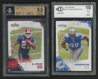 Lot of (2) Beckett Graded Score 2010 Football Cards With #315 C.J. Spiller RC (BGS 9.5) & #377 Ndamukong Suh RC (BCCG 10) at PristineAuction.com