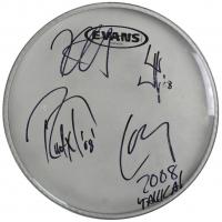 "Metallica 10"" Drum Head Band-Signed by (4) with James Hetfield, Lars Ulrich, Kirk Hammett & Robert Trujillo (JSA LOA) at PristineAuction.com"