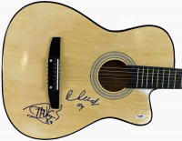 Tommy Chong & Cheech Marin Signed Full-Size Acoustic Guitar (PSA LOA) at PristineAuction.com