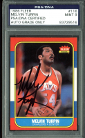Melvin Turpin Signed 1986-87 Fleer #116 (PSA Encapsulated) at PristineAuction.com