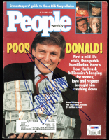 Donald Trump Signed 1990 People Magazine (PSA COA) at PristineAuction.com
