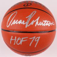 "Oscar Robertson Signed NBA Game Ball Series Basketball Inscribed ""HOF 79"" (PSA COA) at PristineAuction.com"