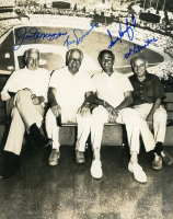 Hall of Famers 8x10 Photo Signed by (4) with Joe DiMaggio, Sandy Koufax, Tommy Lasorda & Ed Liberatore (JSA LOA) at PristineAuction.com