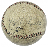 "Babe Ruth, Billy Southworth & Butch Henline Signed ONL Baseball Inscribed ""10/15/24"" (PSA LOA) at PristineAuction.com"