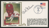 """Bob Gibson Signed """"Cooperstown"""" 1981 FDC Envelope (JSA COA) at PristineAuction.com"""
