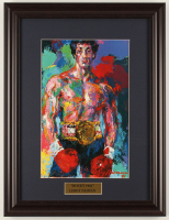 "LeRoy Neiman ""Rocky"" 14.5x19 Custom Framed Print Display at PristineAuction.com"