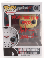 """Ari Lehman Signed """"Friday the 13th"""" #01 Jason Voorhees Funko Pop! Vinyl Figure Inscribed """"Friday the 13th 1980"""" & """"Jason 1"""" (PA COA) at PristineAuction.com"""