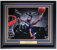 Zion Williamson Signed Pelicans 22x27 Custom Framed Photo Display (Fanatics Hologram) at PristineAuction.com