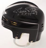 Pierre Pilote Signed Mini Helmet (JSA COA) at PristineAuction.com