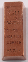 "One Pound .999 Fine Copper ""Element Design"" Bullion Bar at PristineAuction.com"