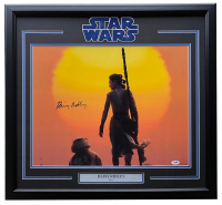 "Daisy Ridley Signed ""Star Wars Episode VI: The Force Awakens"" 22x29 Custom Framed Photo Display (PSA COA) at PristineAuction.com"