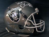 "Darren Waller Signed Raiders Full-Size Authentic On-Field Hydro Dipped Helmet Inscribed ""Just Win Baby!"" (JSA COA) at PristineAuction.com"