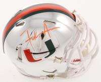 Frank Gore Signed Miami Hurricanes Chrome Speed Mini Helmet (Beckett COA) at PristineAuction.com
