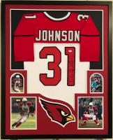 David Johnson Signed 34x42 Custom Framed Jersey (JSA COA) at PristineAuction.com