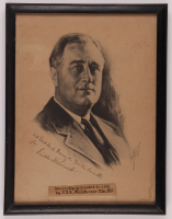Franklin D. Roosevelt Signed 13x17 Custom Framed Print Display with Inscription (JSA LOA) at PristineAuction.com