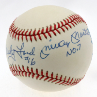 Mickey Mantle, Yogi Berra & Whitey Ford Signed OAL Baseball with all (3) Jersey Number Inscriptions (JSA LOA) at PristineAuction.com