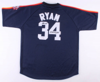 "Nolan Ryan Signed Astros Jersey Inscribed ""100.7 MPH Fastball"" (PSA COA) at PristineAuction.com"