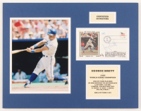 George Brett Signed Royals 14x18 Custom Matted Cachet Envelope Display (JSA COA) at PristineAuction.com