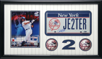 Derek Jeter Signed Yankees 16x19 Custom Framed License Plate Display (Steiner COA) at PristineAuction.com
