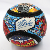 Stan Lee & Charles Fazzino Signed Hand-Painted Baseball (PSA COA) at PristineAuction.com