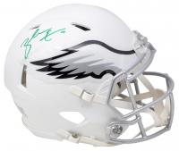 Zach Ertz Signed Eagles Full-Size Matte White Speed Helmet (Sports Integrity COA & Ertz Hologram) at PristineAuction.com