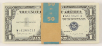 Lot of (50) 1957-B $1 One-Dollar Blue Seal Silver Certificates with Consecutive Serial Numbers at PristineAuction.com
