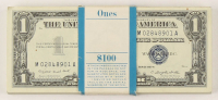 Lot of (100) 1957-A $1 One-Dollar Blue Seal Silver Certificates with Consecutive Serial Numbers at PristineAuction.com
