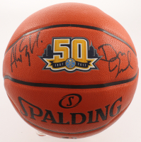 Alex English & Dan Issel Signed Nuggets NBA Team Game Ball Series Basketball (JSA Hologram) at PristineAuction.com
