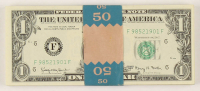 Lot of (50) 1963-A $1 One-Dollar Green Seal U.S. Federal Reserve Notes with Consecutive Serial Numbers at PristineAuction.com