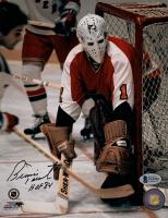 "Bernie Parent Signed Flyers 8x10 Photo Inscribed ""HOF 84"" (Beckett COA) at PristineAuction.com"