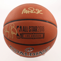 Magic Johnson & Larry Bird Signed 2018 All-Star Game Basketball (Beckett COA) at PristineAuction.com