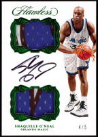 Shaquille O'Neal 2016-17 Panini Flawless Dual Patch Autographs Emerald #59 at PristineAuction.com
