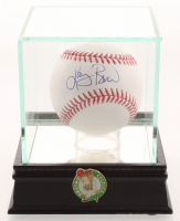Larry Bird Signed OML Baseball with High Quality Display Case & Pin (Larry Bird Hologram) at PristineAuction.com