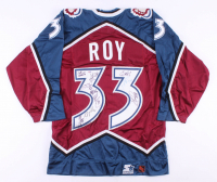 2000-2001 Avalanche Jersey Team-Signed by (10) With Patrick Roy, Chris Drury, Adam Foote, Bob Hartley (PSA LOA) at PristineAuction.com
