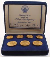 Vintage 1981 Ronald Reagan Inauguration Button Set at PristineAuction.com