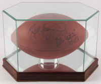 """Brett Favre & Reggie White Signed NFL """"Super Bowl XXXI"""" Official Game Ball Football with High-Quality Display Case (JSA LOA) at PristineAuction.com"""