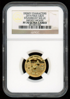 2014 $25 Twenty Five-Dollar - Steamboat Willie - Mickey Mouse - Disney - 1/4 Ounce Gold Coin - Niue - Limited Edition - (NGC PF 70 - Ultra Cameo) at PristineAuction.com