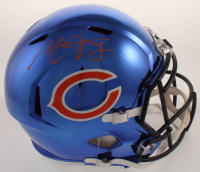 Mitch Trubisky Signed Bears Full-Size Chrome Speed Helmet (Fanatics Hologram) at PristineAuction.com