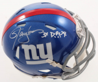 """Lawrence Taylor Signed Giants Speed Mini Helmet Inscribed """"3x DPOY"""" (JSA COA) at PristineAuction.com"""